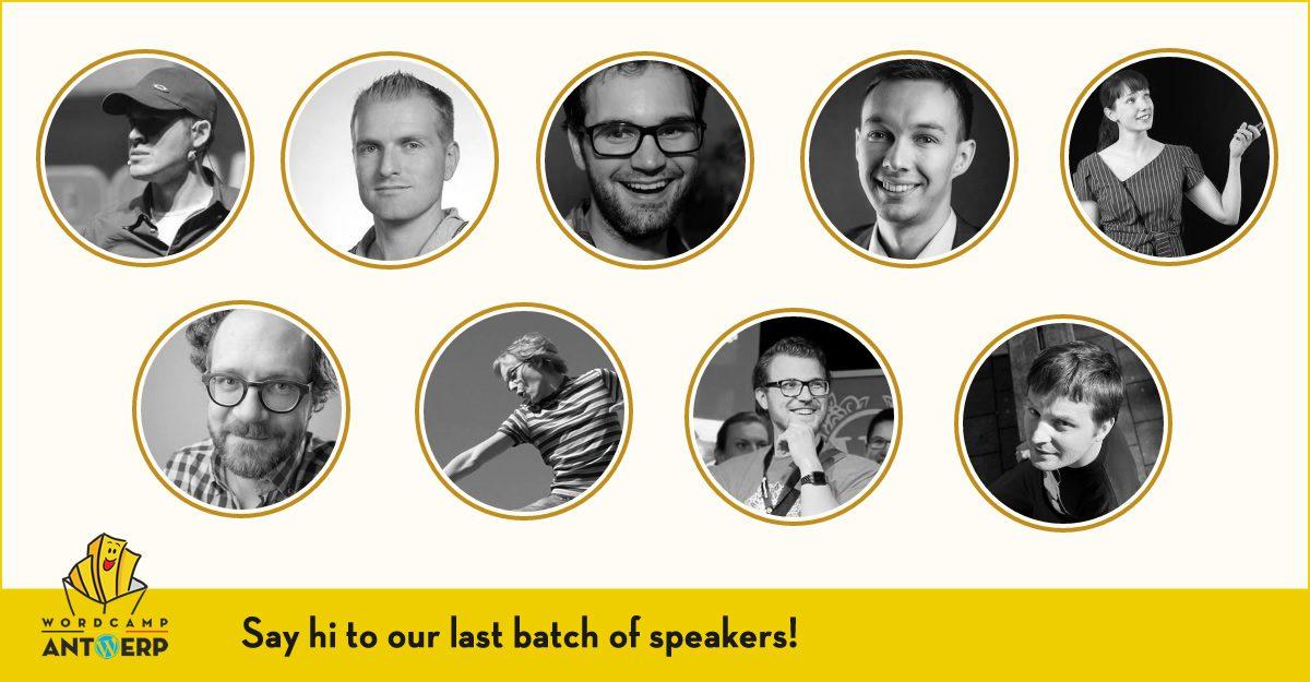 New speakers announced, last round