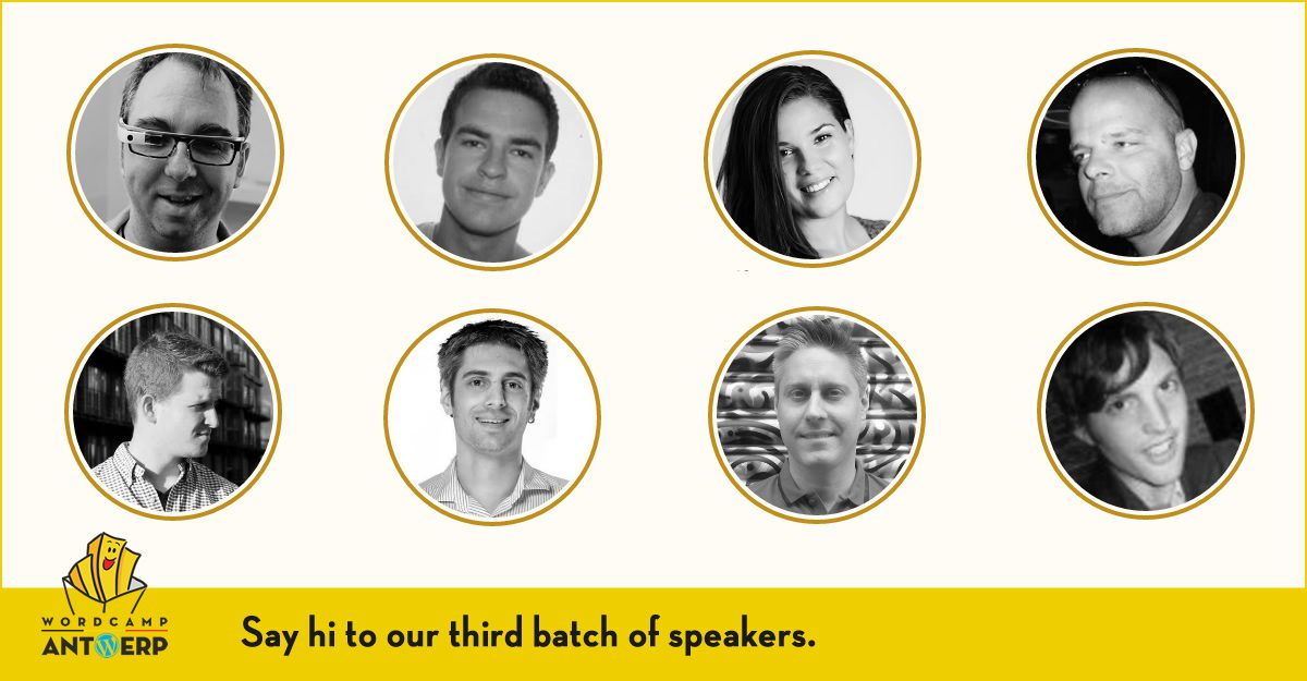Third batch of speakers announced